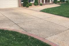 Terrazzo Concrete Driveway Curved Fairfax VA