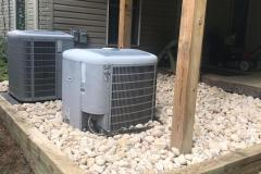 River Rock Base for AC Units