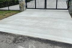 Concrete Driveway with Iron Gate Fairfax VA